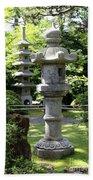 Stone Pagoda And Lantern Bath Towel