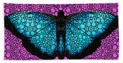 Stone Rock'd Butterfly 2 By Sharon Cummings Hand Towel