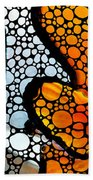 Stone Rock'd Clown Fish By Sharon Cummings Bath Towel