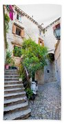 Stone Streets Of Old Trogir Bath Towel