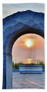 Sunrise Through The Arch - Rehoboth Beach Delaware Bath Towel