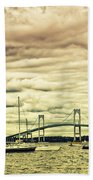 Storm Brewing In Newport Bath Towel