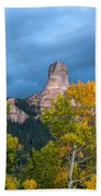 Storm Clouds Over Chimney Rock Bath Towel