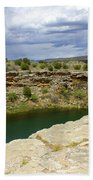 Storm Clouds Over Montezuma Well Bath Towel
