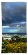 Storm On Oregon Coast Bath Towel