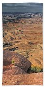 Stormy Skies In Canyonlands Bath Towel