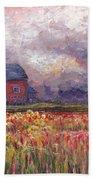 Stormy Sunflower Farm Bath Towel