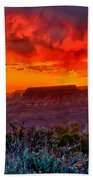 Stormy Sunset At The Watchtower Bath Towel