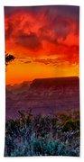 Stormy Sunset Greeting Card Bath Towel