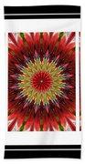 Strawberry Explosion Triptych - Kaleidoscope Bath Towel