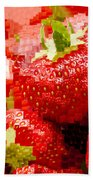 Strawberry Mosaic Hand Towel