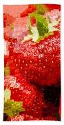 Strawberry Mosaic Bath Towel