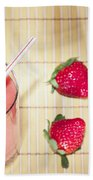 Strawberry Smoothie Bath Towel