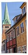 Street In Helsingor Denmark Bath Towel