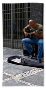 Street Musician - Sao Paulo Bath Towel