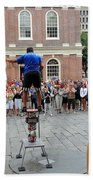 Street Performer Faneuil Hall Market Boston Bath Towel