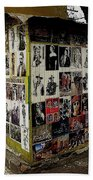 Street Photographer's Shed Icons Us/mexico Border Nogales Sonora  Mexico 2003 Bath Towel