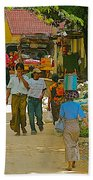 Street Scene In Tachilek-burma Bath Towel