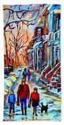 Streets Of Montreal Hand Towel
