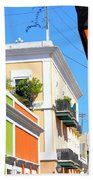 Streets Of Old San Juan Bath Towel