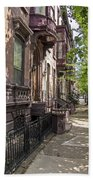 Streets Of Troy New York Bath Towel