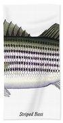 Striped Bass Hand Towel