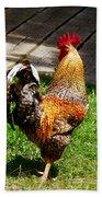 Strutting Rooster Bath Towel