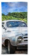 Studebaker Goes To The Beach Bath Towel