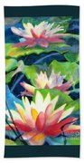 Styalized Lily Pads 3 Bath Towel