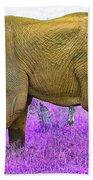 Styled Environment-the Modern Elephant Bull Bath Towel