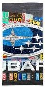 Subaru License Plate Map Sales Celebration Limited Edition 2013 Art Bath Towel