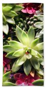 Succulent Beauties Bath Towel