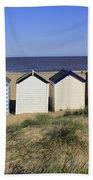 Suffolk Beach Huts Bath Towel