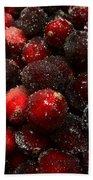 Sugared Cranberries Bath Towel