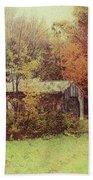 Sugarhouse In Autumn Bath Towel