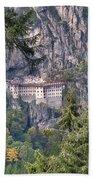 Sumela Monastery In Black Sea Region Of Turkey Bath Towel