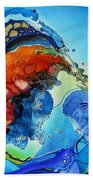 Summer - A Hot Day At The Beach Hand Towel