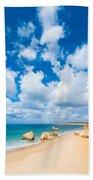 Summer Beach Algarve Portugal Bath Towel