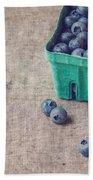 Summer Blueberries Bath Towel