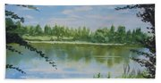 Summer By The River Bath Towel