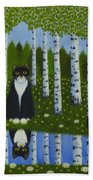 Summer Cat Hand Towel