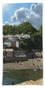 Summer Evening Clovelly North Devon Bath Towel