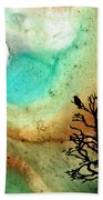 Summer Moon - Landscape Art By Sharon Cummings Bath Towel