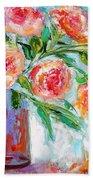 Summer Roses Bath Towel