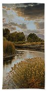 Summer Sets On The Gunnison River Bath Towel