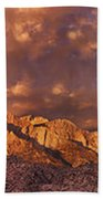 Summer Storm Clouds Over The Eastern Sierras California Bath Towel