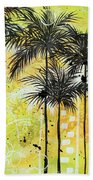 Summer Time In The Tropics By Madart Bath Towel