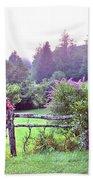 Summer Valley Fence Bath Towel