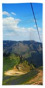 Summertime Chairlift Ride Bath Towel