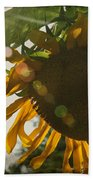 Sun And Sunflower Bath Towel
